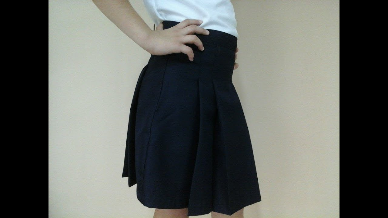 99c2f4bd41 Como Hacer Una Falda Escolar Parte II How To Make A Skirt School Part II