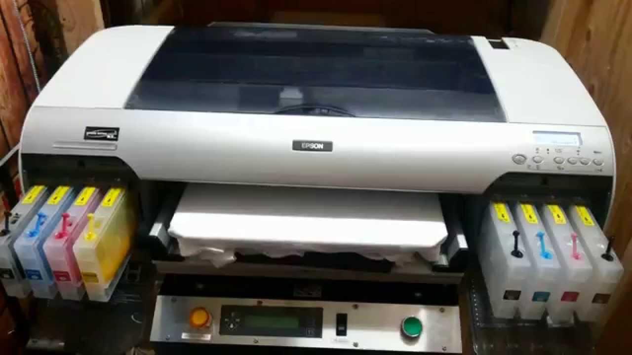 Epson 4800 dtg printer for sale 05 03 2014 youtube for Epson t shirt printer
