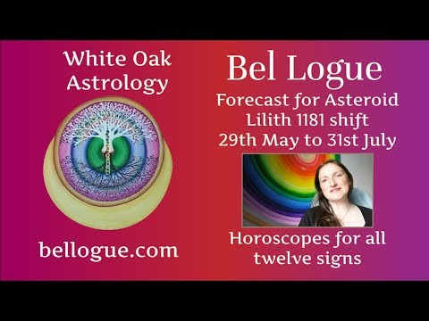 Forecast for Asteroid Lilith 1181 Horoscopes for all 12 signs - 29th May to 31st July 2017