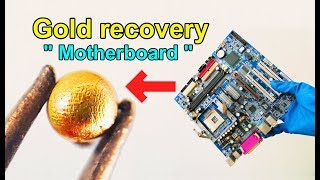 How to recycle gold from motherboard computer scrap | How to make gold recovery ic chips computer