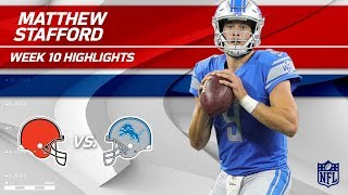 Matthew Stafford's 3 TD Day vs. Cleveland! | Browns vs. Lions | Wk 10 Player Highlights
