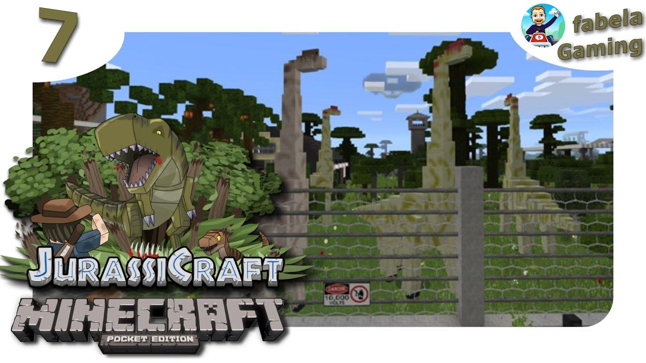 MINECRAFT PE Spannende Maps Jurassic Craft Ab In Den - Minecraft dinosaurier spiele