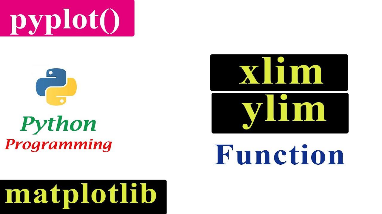 Adjusting The Limits Of The Axis   Matplotlib   Python Tutorials
