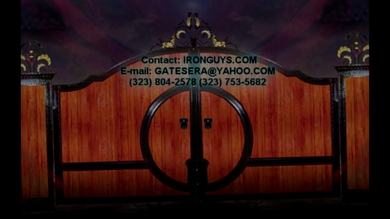 Wood and iron gates los angeles ca youtube for Used lumber los angeles