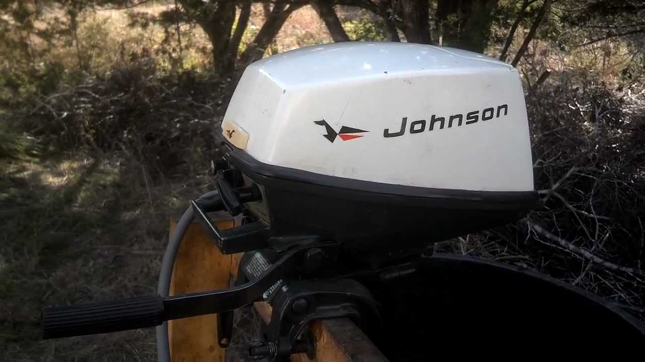 1971 4w71d Johnson 4hp Outboard Youtube