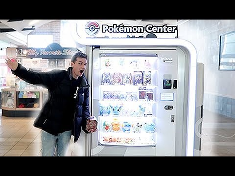 A Pokemon Center Vending Machine