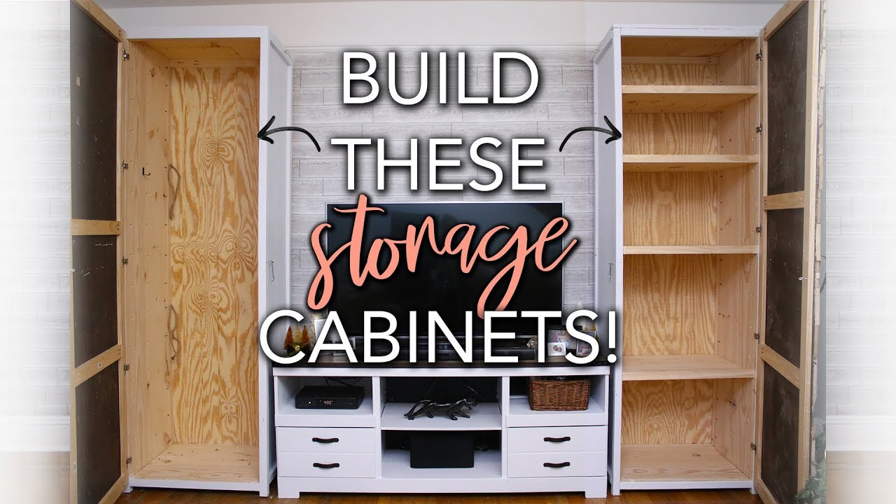 Diy Wood Storage Cabinet Youtube