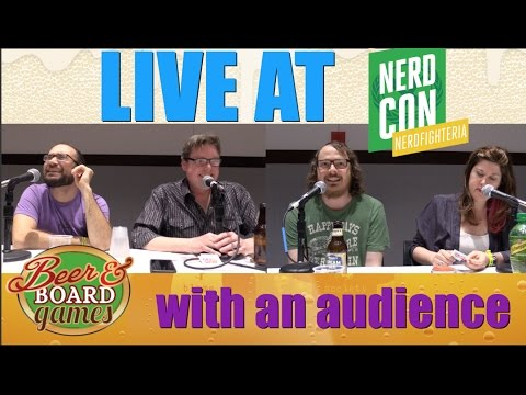 Beer and Board Games Recorded In Front of a Huge Audience at Nerdcon