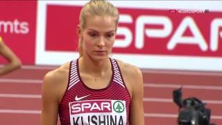 Darya Klishina Дарья Клишина 2017 3v European Indoor Championships Belgrade March 4 & 5th