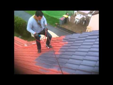 ravalement de peinture sur toiture fibre ciment doovi. Black Bedroom Furniture Sets. Home Design Ideas
