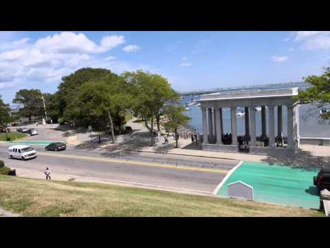 Plymouth Massachusetts  Home of The Pilgrims   Drone Aerial Views HD