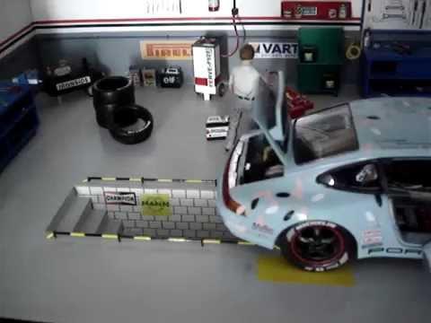 1 18 diorama handmade 62cm youtube for Garage auto mecano buc
