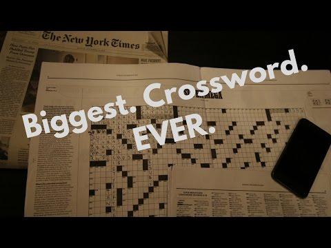 The Biggest Crossword Puzzle Ever