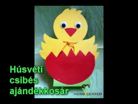 Kreatív ötletek - Húsvéti kosárkák - YouTube