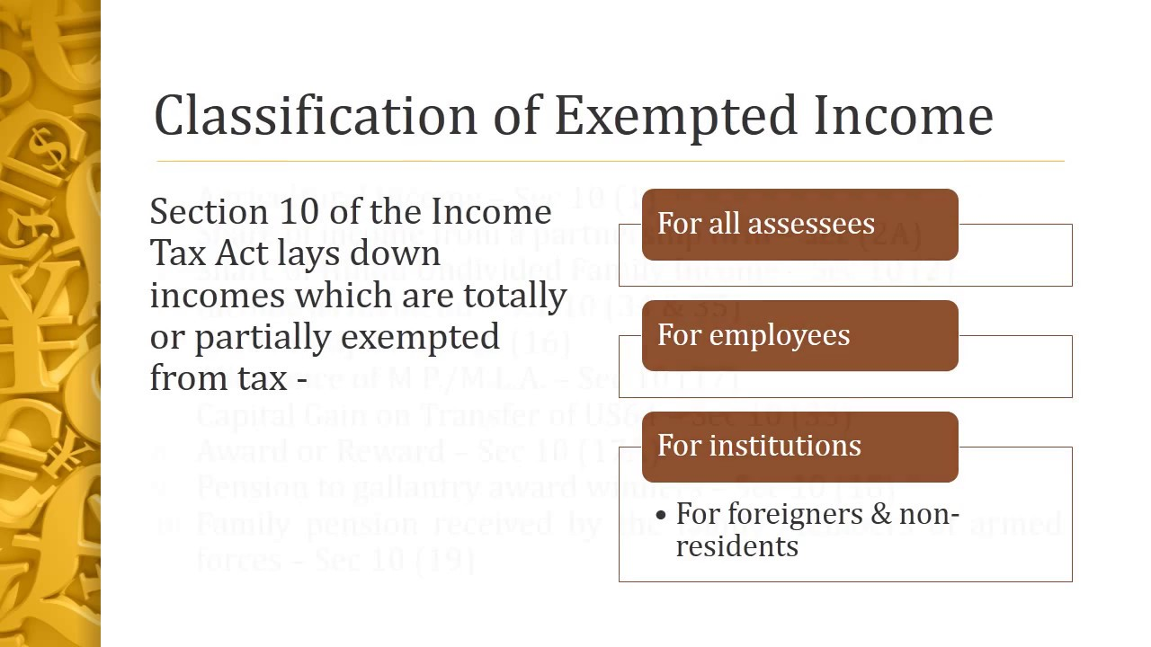 exempted from