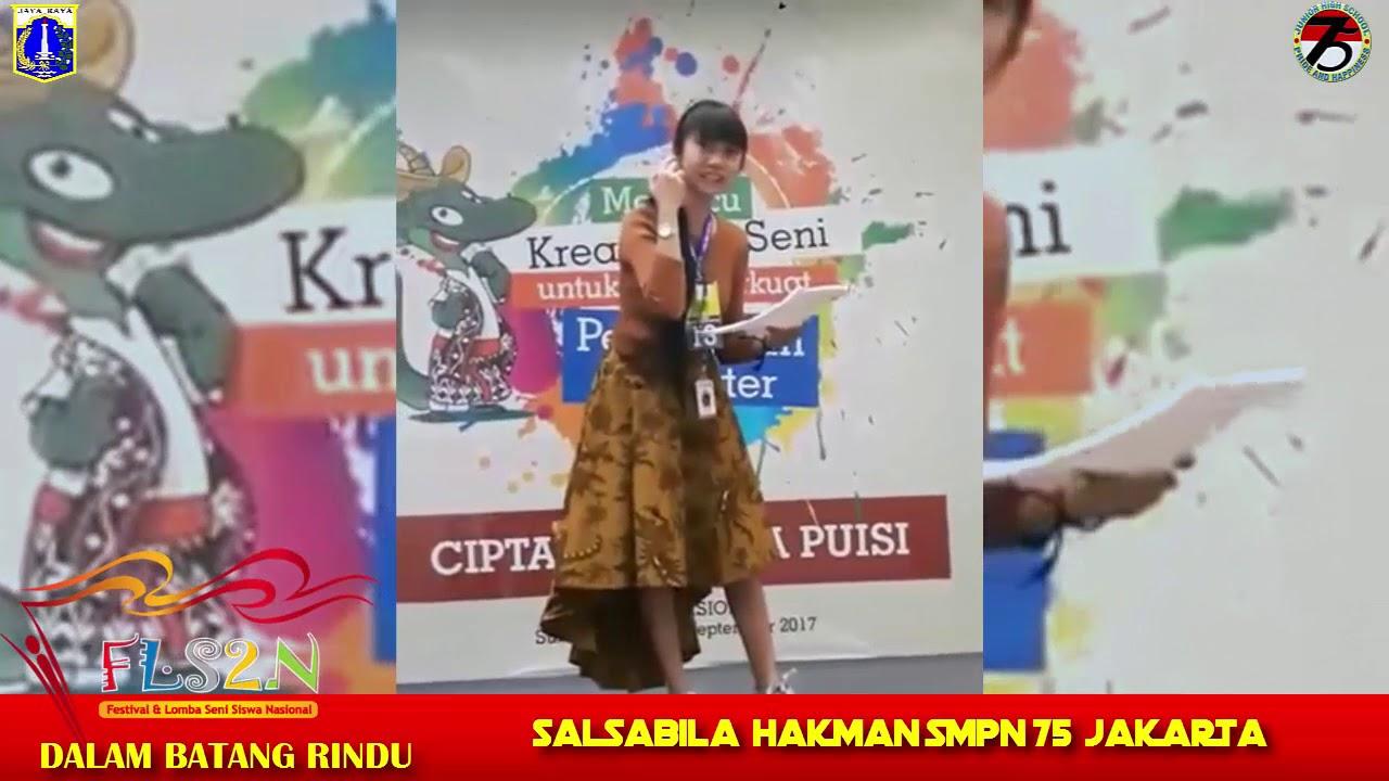 Juara 1 Fls2n Lomba Cipta Dan Baca Puisi Dki Jakarta Youtube