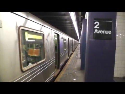 IND Sixth Avenue Line: Brooklyn-bound R46 F Train@2nd Avenue!