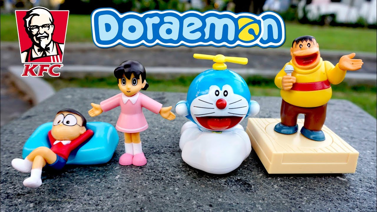 Unboxing Mainan Doraeomon Dari Chaki Kids Meal Toys Kfc Terbaru