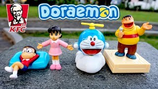Unboxing Mainan Doraeomon Dari Chaki Kids Meal Toys KFC Terbaru | Mainan Anak Terbaru Lucu 2018