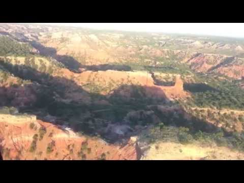 Flying over Palo Duro Canyon