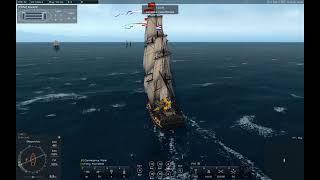 Naval Action - Nassau PZ, sinking some Russians.