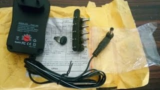 Multi Tap Volt Universal AC  power supply Adapter Review