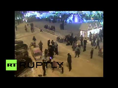 Russia: See Charging HORSE Smash People To The Ground