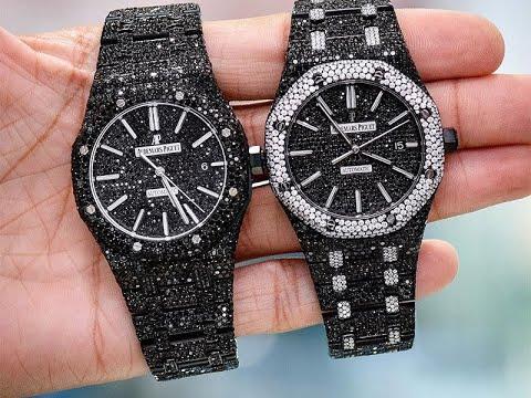 BEST ICED OUT BLACK DIAMOND WATCHES + CRAZY CUSTOM PEICES!!!      #BlackDiamondJewelry #Custom