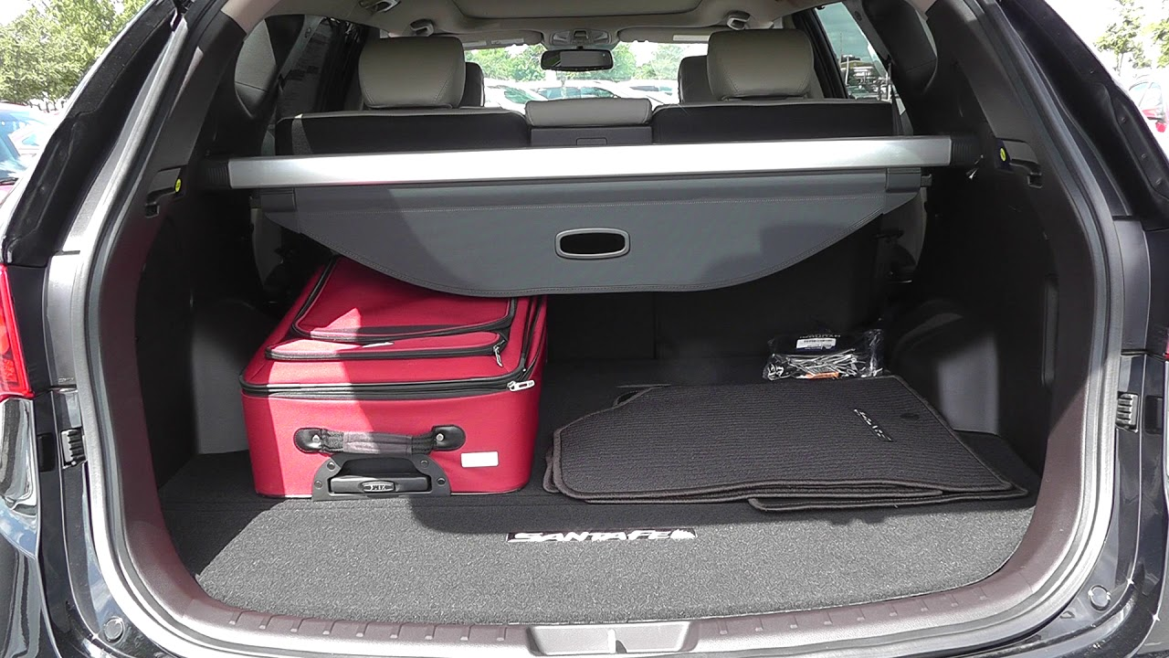3 Piece Luggage Test 2017 Hyundai Santa Fe Sport 2 0t Youtube