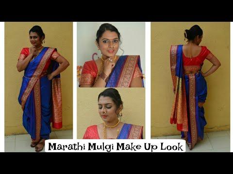 Marathi Mulgi Make Up Look | Make Up + Hair + Outfit Idea
