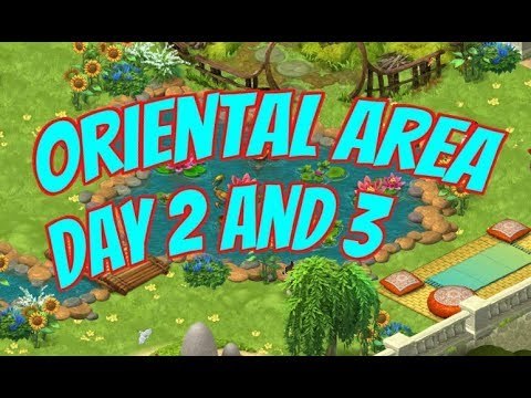 GARDENSCAPES NEW ACRES Gameplay Story Playthrough | Area 7 Oriental Area Day 2 and Day 3