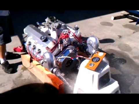River City Boat Works; 454 jet boat engine test run - YouTube