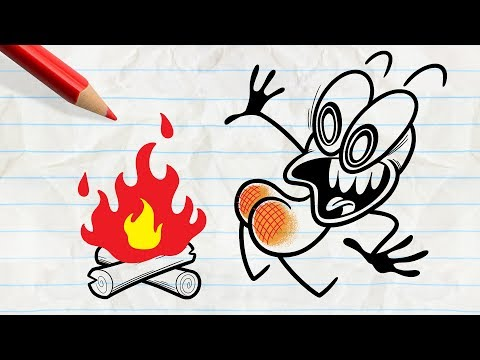 Pencilmate Plays with Fire... -in- PENCILMATION FIRY COMPILATION