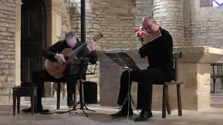 """""""Musiques du Monde"""" Michel Tirabosco flûte de pan, Dagoberto Linhares, guitare"""