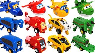 Super Wings have friends! Dinosaurs, animals auto transforming car Carnimals appeared! - DuDuPopTOY