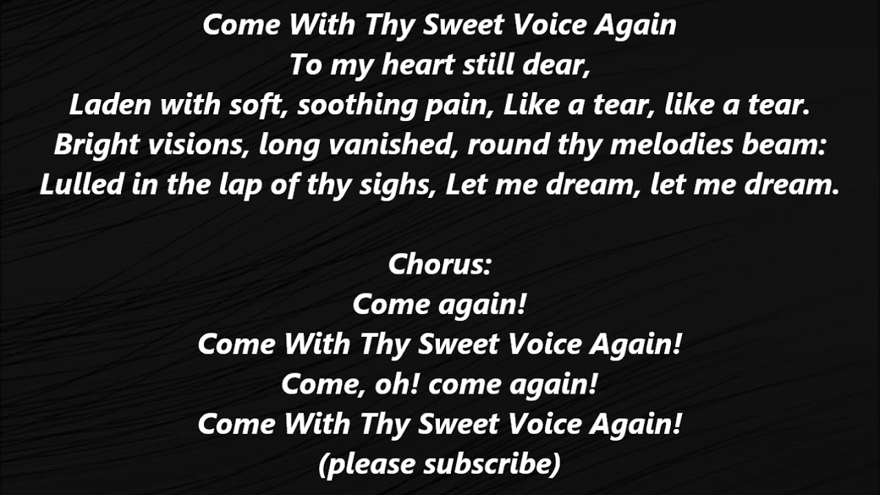 Song lyrics with the word sweet in them