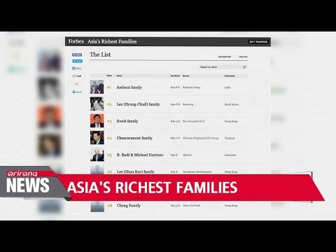 Samsung owners ranked second in 'Asia's Richest Families' by Forbes