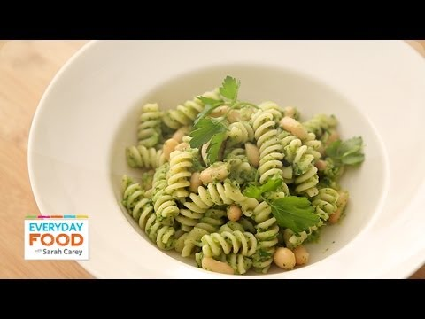 Pasta with White Beans and Broccoli Pesto Everyday Food with Sarah Carey