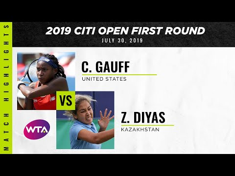 Coco Gauff vs. Zarina Diyas | 2019 Citi Open First Round | WTA Highlights