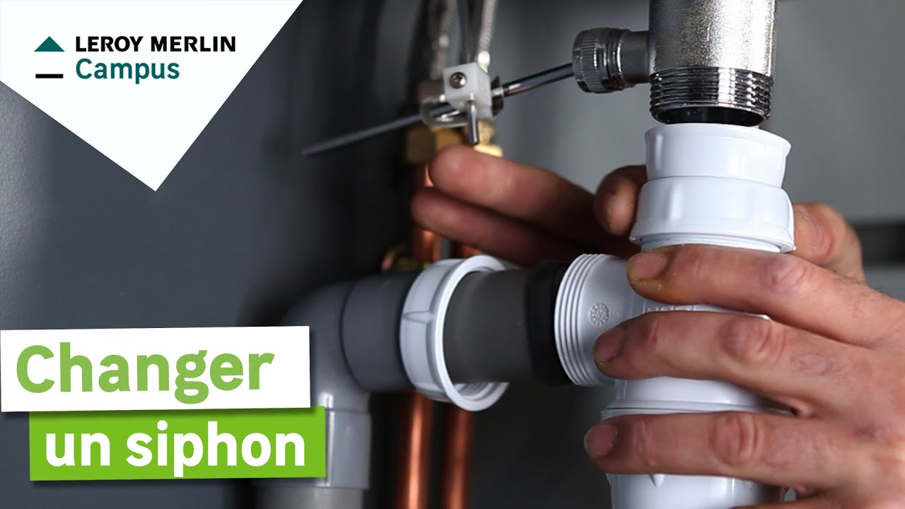 Comment changer un siphon leroy merlin youtube - Lavabo colonne leroy merlin ...