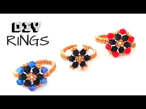 diy-beaded-rings.-how-to-make-beaded-rings.-jewelry-making.