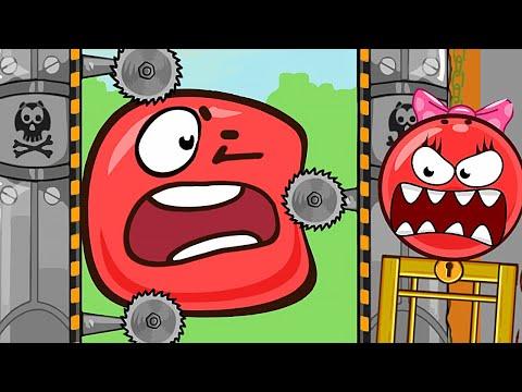 Новый КРАСНЫЙ ШАР ! Ловушка От Девочки Шара с ПИЛАМИ ! Игра про шарик Red Ball 4 ! Для детей