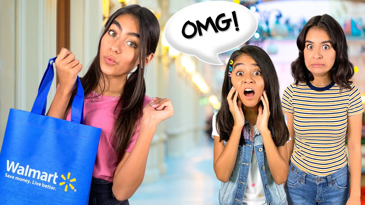 Sister Chooses My School Supplies - Walmart Back To School Haul   GEM Sisters