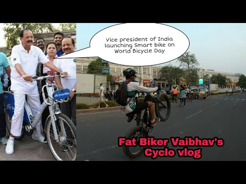 Performing Some WHEELIES on Smart Bike Launch Event | World Bicycle Day  | Fat Biker Vaibhav