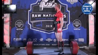 David Woolson - 1st Place 93 kg USAPL Raw Nationals 2018 - 833 kg
