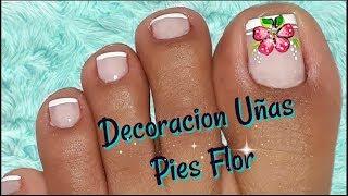 Decoracion De Unas Pies Flor Nail Decoration Feet Flower Youtube