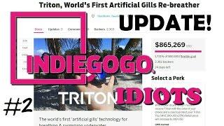 Indiegogo Idiots- Underwater Breathing?! (Triton Gills UPDATE!!)