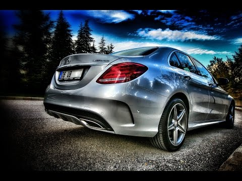 2014 2015 Mercedes C Class W205 Active Steering Assist & Distronic Plus Demo