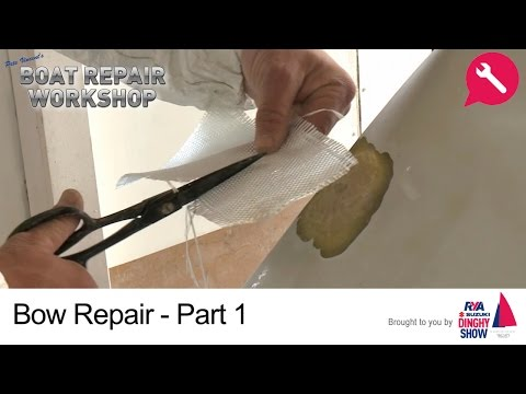 Bow Repair - Fiberglass GRP Damage Part 1 - Pete Vincent's Boat Repair Workshop