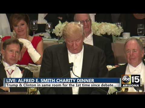Donald Trump: Met Clinton's campaign team NBC, CNN, CBS, ABC - Alfred E. Smith dinner